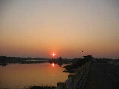 sunset in Darbanga, Bihar