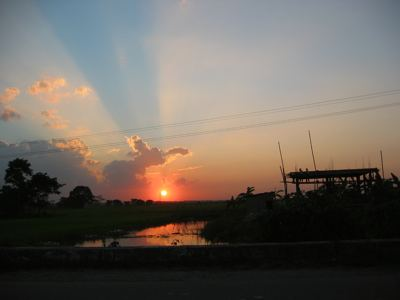 sunset in Gawhati