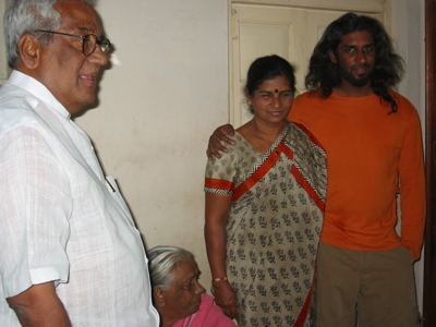 with my parents and aunt sarojini