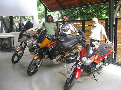 Bari kumar, Dinesh Reddy, Navroze Contractor, Bangalore.