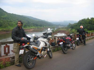 on a bridge after Ratnagiri