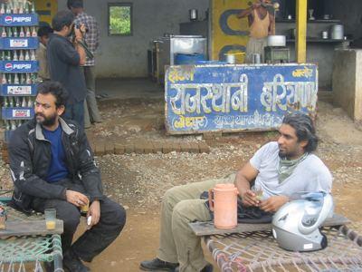 chai break outside Daman