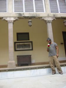 Nilambag Palace courtyard, Bhavnagar