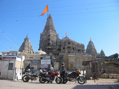 inront of Krishna temple, Dwaraka