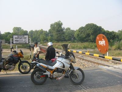 wiating at the rail crossing, Punjab