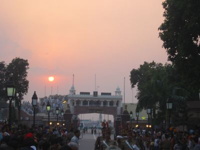 sunset at wagah border