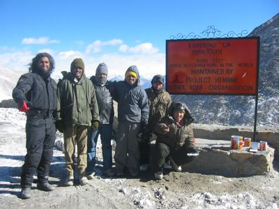 on the highest motorable road