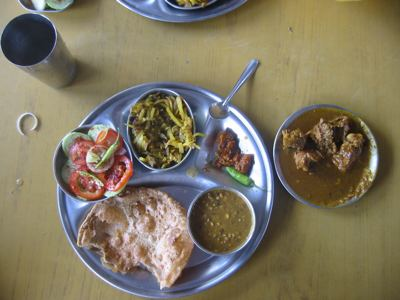 traditional Bihar lunch
