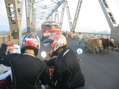navigating on the brahmaputra bridge
