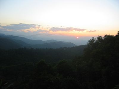 early sunset, Nagaland